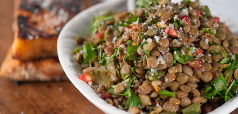 Healthy delicious lentil salad recipe. Helps with fat loss, building muscle, and tasty